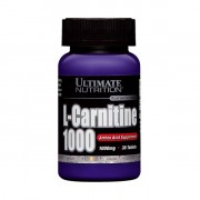 Л-карнитин в таблетках и капсулах Ultimate L-Carnitine 1000 мг  (30 таб)