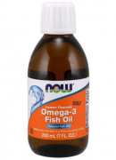 Омега-3 NOW Omega-3 Fish Oil   (200ml.)
