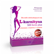 Л-карнитин в таблетках и капсулах Olimp L-Carnitine 500 forte plus  (60 капс)