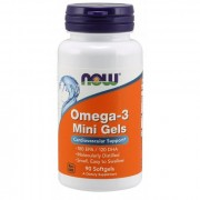 Омега-3 NOW Omega-3 mini gels 500mg   (90c.)