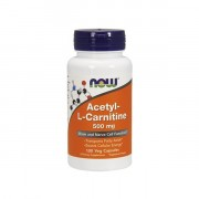 Ацетил-Л-карнитин NOW Acetyl-L-Carnitine 500 мг  (100 капс)