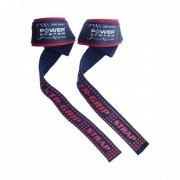 Лямки и крюки для тяги Power System Lifting Straps PS-3430   (синий)