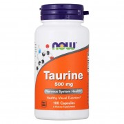 Таурин NOW Taurine 500 мг  (100 капс)